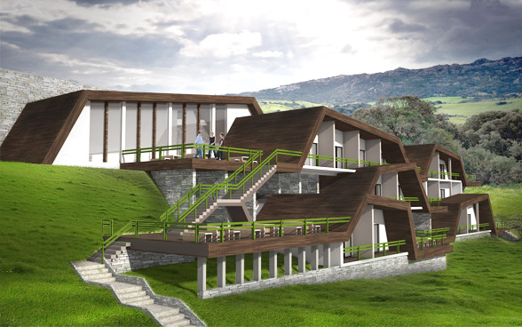 Mountain resort for Mountain lodge architecture